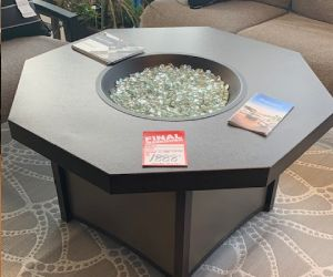 Homecrest chat table with fire pit