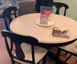 "Canadel dining set 4 chairs and 48""round table solid birch Canadian made"