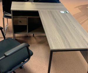 Office desk with left return