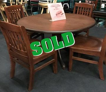 5 pc solid wood set sold